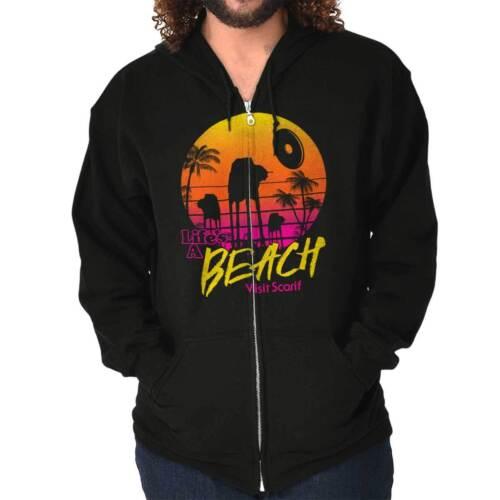 Beach Star Funny Galaxy Space Movie Vacation Zipper Sweat Shirt Zip Sweatshirt