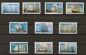 SERIE-TIMBRES-3269-3278-NEUF-XX-LUXE-GRANDS-VOILIERS-ARMADA-DU-SIECLE-ROUEN
