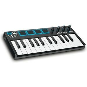 alesis v mini midi usb studio 25 key keyboard controller with pads ebay. Black Bedroom Furniture Sets. Home Design Ideas