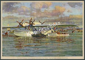 Grosflugboot-Dornier-Superwal-Abflug-Passagiere-Friedrichshafen-Luftfahrt-1928