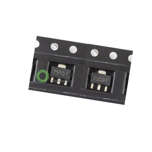 20PCS SOT-89 HT7550-1 0.1A 5V Low Dropout Voltage Regulator IC LDO NEW