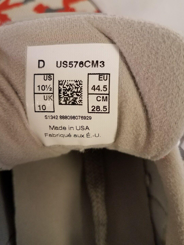 Größe 10 1 / 2 d graues neues gleichgewicht 576 männerschuhe turnschuhe graues d wildleder made in usa euc 992 2f2efa