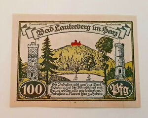 BAD-LAUTERBERG-NOTGELD-100-PFENNIG-1921-NOTGELDSCHEIN-11531