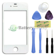 White Front Screen Glass Lens Repair Replacement for Apple iPhone 4 4G + 8 Tools