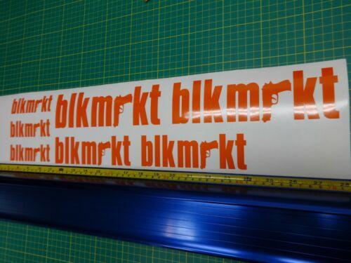 Custom Colors BLK MRKT bikes Black Market Frame Decals USA Seller!