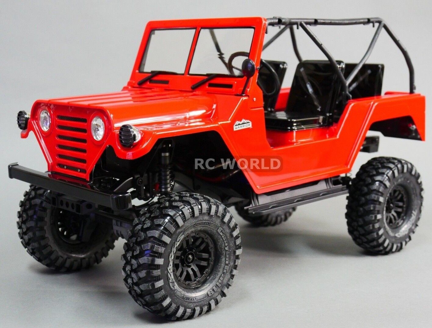 For Traxxas TRX-4 BODY SHELL 1 10 JEEP WARRIOR  -PAINTED- rosso
