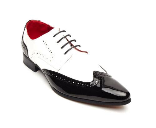 pizzo di regalo da per ufficio bianco nero in Natale Scarpe formali pz2 Convenzioni e uomo aSWn7qqdwB