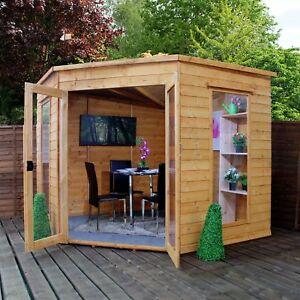 Mercia Corner Shiplap 8 x 8 Summerhouse