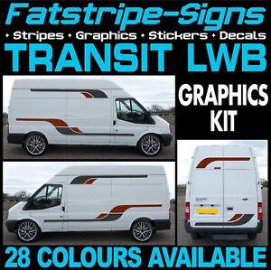 Ford-Transit-Lwb-Graficos-Pegatinas-Rayas-Calcomanias-Camper-Van-Autocaravana-ST-Sport