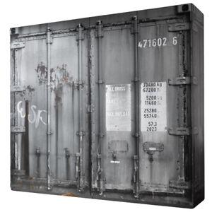 Details Zu Kleiderschrank Container Optik 4 Trg B 237 Cm Jugendzimmer Schlafzimmer Schrank