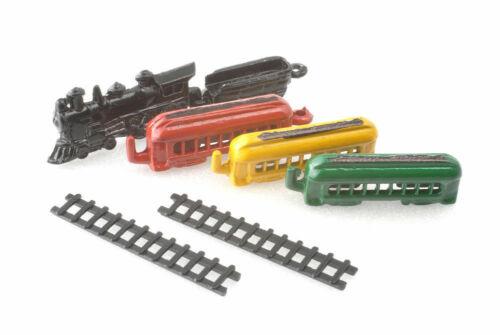 Casa de muñecas en miniatura escala 1//12th Conjunto de Tren de Juguete de Metal D528