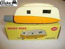 DINKY 190 STREAMLINE CARAVAN - EXCELLENT in original BOX