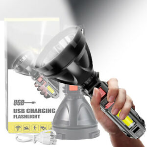 USB Rechargeable Flashlight LED Camping Hunting COB Tactical Torch 3 Light Modes