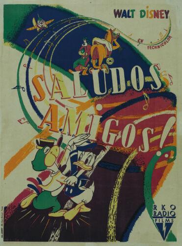 Saludos amigos Disney Donald Duck cartoon poster #2