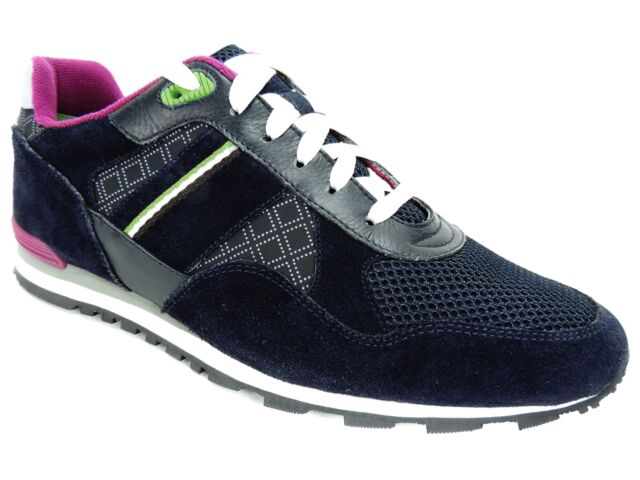 Hugo Boss Shoes Space Lowp syme Sneakers Men Blue Brand New