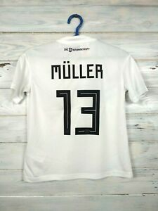 Muller Germany Jersey 2018 2019 Home Youth 9-10 y Shirt Adidas Football BQ8460