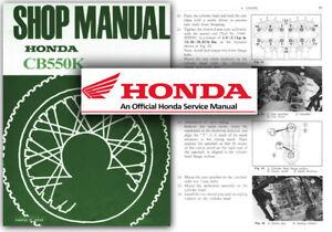 honda cb550k service workshop repair manual cb550 k1 k2 k3 f a e f2 rh ebay com au Honda CB550 Cafe Racer 1974 Honda CB550