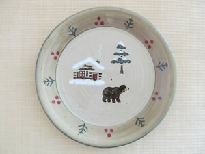 Lodge-by-Sonoma-Salad-Dessert-Plate-with-Cabin-Bear-Tree