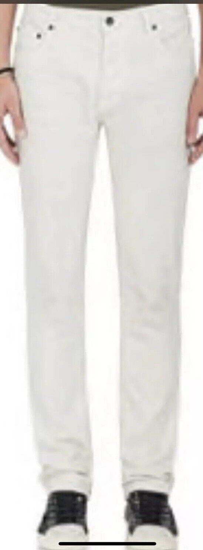 John Varvatos Wight Skinny Jean Stud Detailing Size 36 Distressed White New