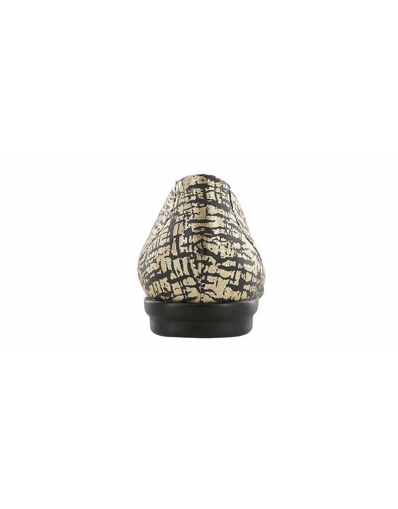 SAS SCENIC BLACK BLACK BLACK GOLD BALLET FLAT 7 M NIB 137 Damenschuhe SLIP ON SHOE a02bd1