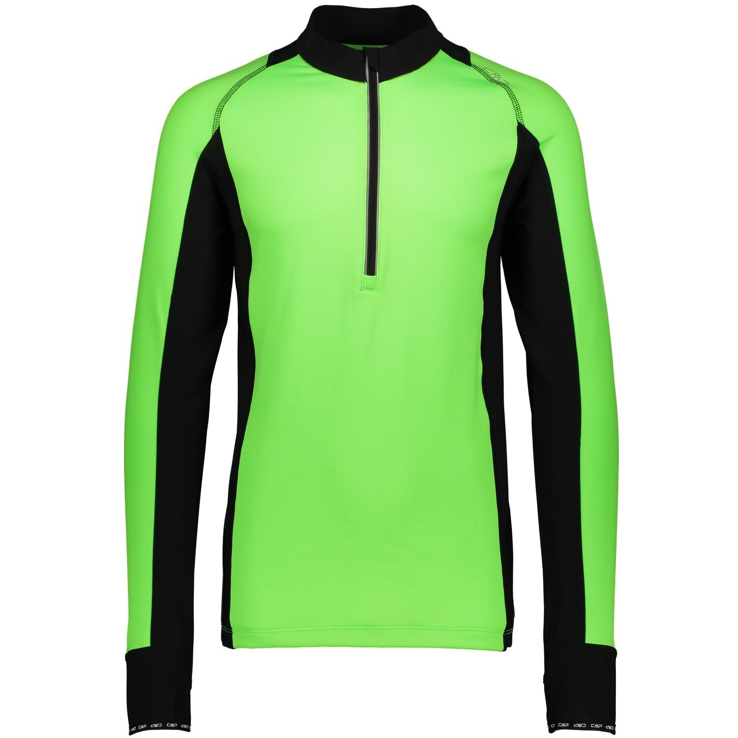 CMP running shirt Function Top Collar Shirt Green Mesh gridTECH  Zipper  special offer