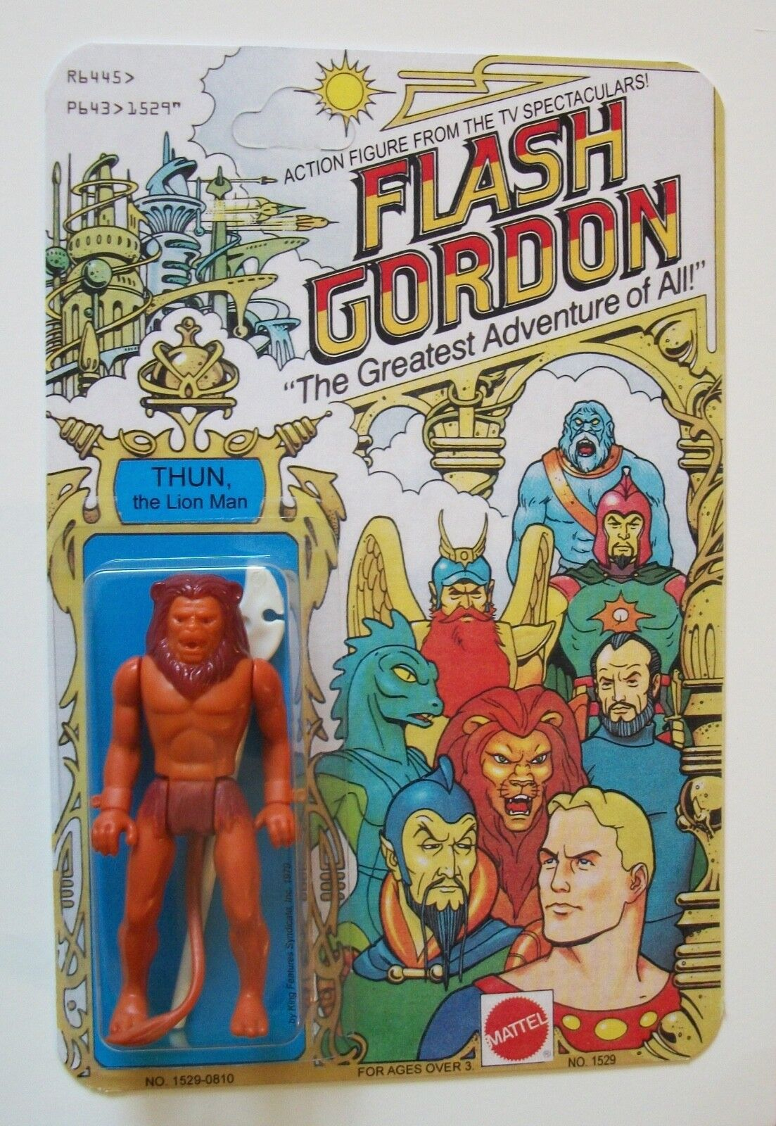 Restoration Vintage Flash Gordon 1979 Thun 3 3 4 Action Figure MOC