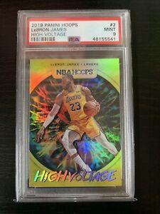 Lebron James 2019-20 Hoops High Voltage SHORT PRINT INSERT #2 PSA 9 MINT Lakers