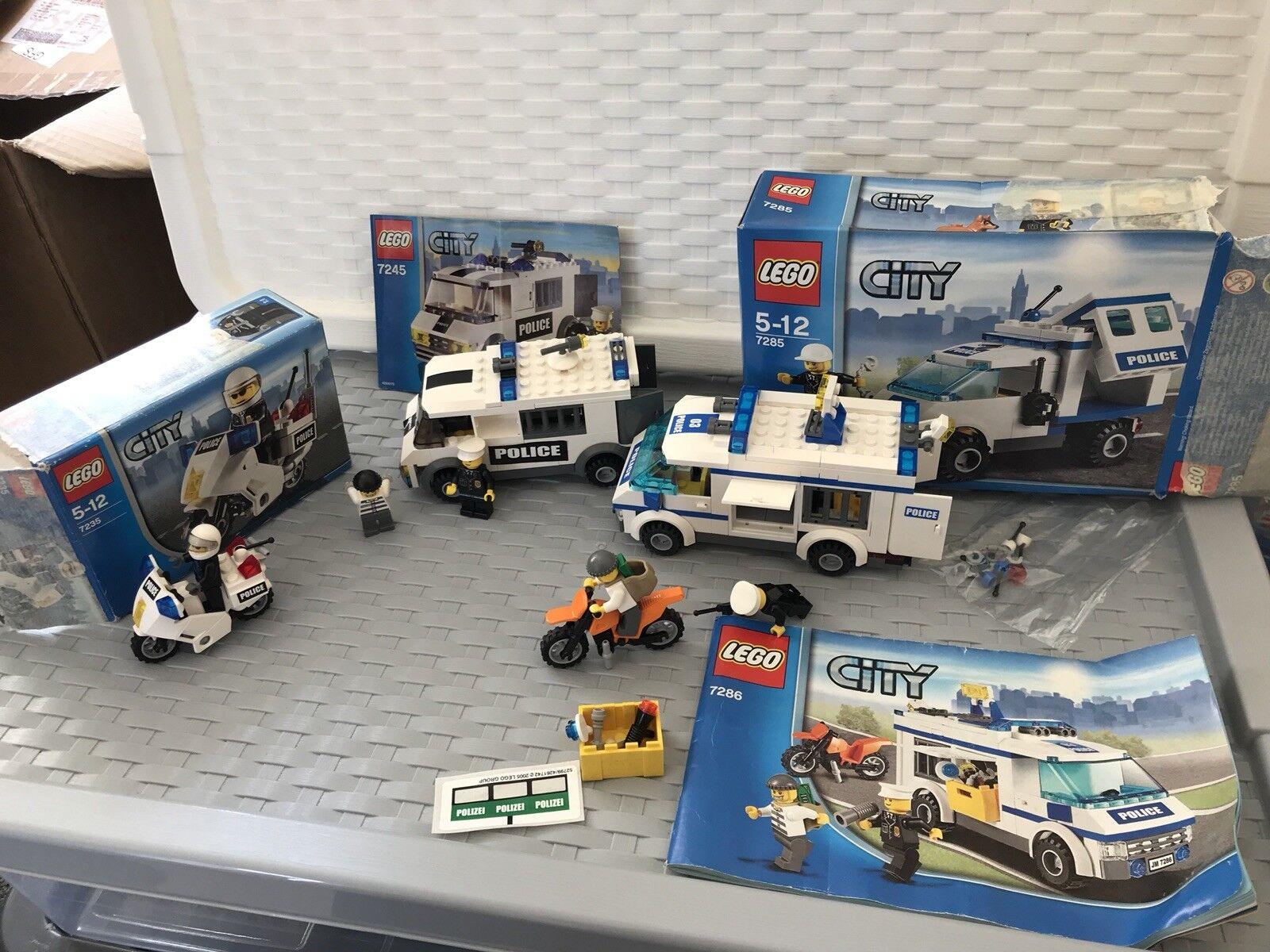 Lego City Police Retired Sets 7235 7245 7286