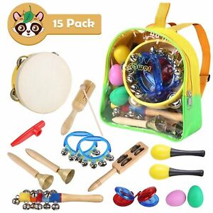 15x Baby Musikinstrumente Set Percussion Spielzeug Toys Kinder Rhythm Spielzeug Musikinstrumente