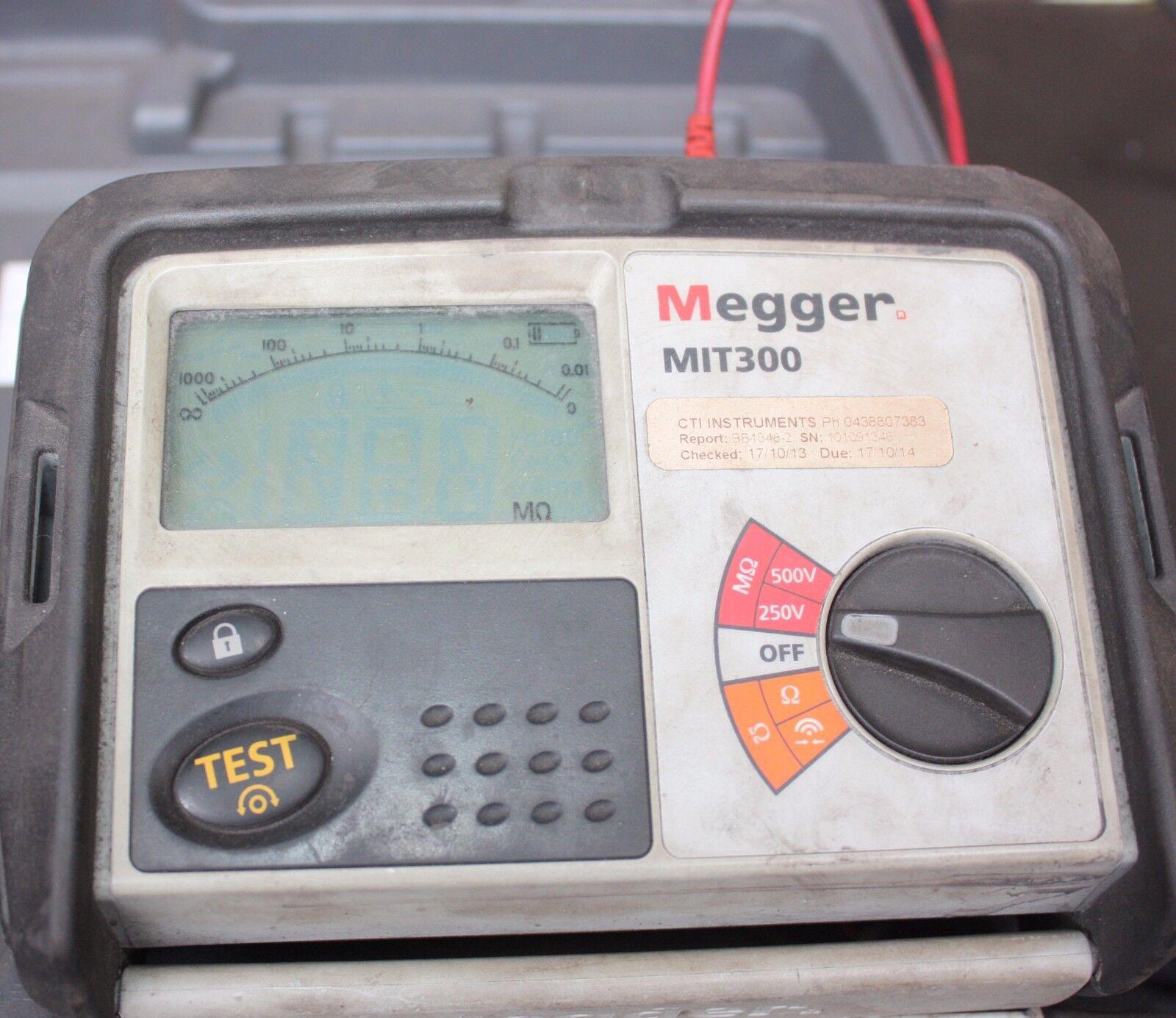 Megger Mit300 250/500v MegOhm Meter Insulation and Continuity Tester ...