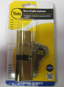 Yale Euro Profile Cylinder 90mm 40//50 Brass ED3545-PB PVC UPVC COMPOSITE DOOR