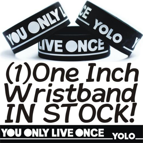 YOLO Black /& White You Only Live Once Wristband Bracelet Brand New Motto Theme