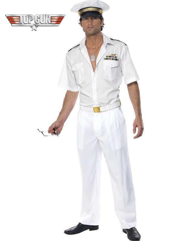 80s 1980s Licensed Licensed Licensed Top Gun Sailor Captain Fancy Dress Costume L 42-44  Smiffys | König der Quantität  6d7e59