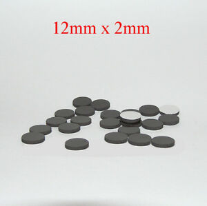 12mm x 2mm self adhesive disc magnets round rubber magnetic craft dots