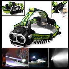 Skywolfeye 15000LM 2X XML T6 LED Rechargeable 18650 USB Headlamp Headlight Torch