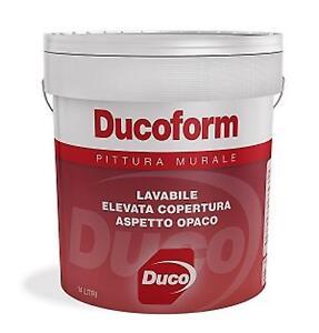 PITTURA MURALE LAVABILE - DUCOFORM - 14L. - BIANCO - DUCO ...