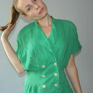 Blouse Rockabilly Pointed Vintage Blouse Dress 80s Sporting 80s True Donna POTqzwnn