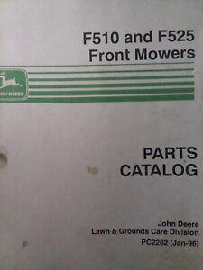 John Deere F510 F525 Front Lawn Mower Tractor Parts Manual PC2262 14 17 h.p  | eBayeBay