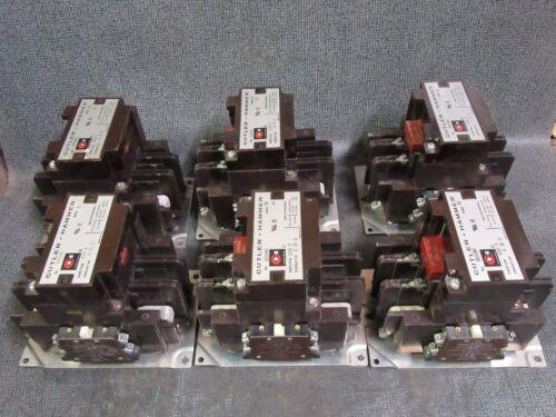 C832JN3 CUTLER HAMMER CONTACTOR 120 AMP 600V 3 PHASE 110-120V COIL MODEL 1