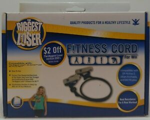 Wii The Biggest Loser Fitness Cord NIB Condition Health Jillian Michaels WiiFit