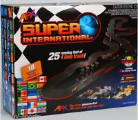 Afx Super International 4 Lane Mega G+ Ho Slot Car Race Track Set Tri-power Mg+