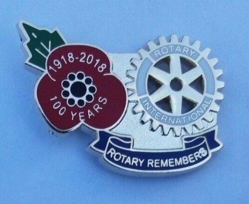 ROTARY INTERNATIONAL 1918-2018 WW1 POPPY REMEMBRANCE PIN BADGE