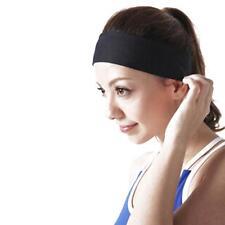 Women Girls Yoga Sports Sweatband Headband Elastic Hair Band Accessories Black