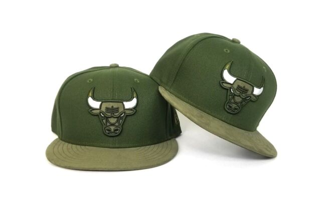 low priced d755f eb7af New Era Olive Green Chicago Bulls snapback hat Jordan 12 Chris Paul