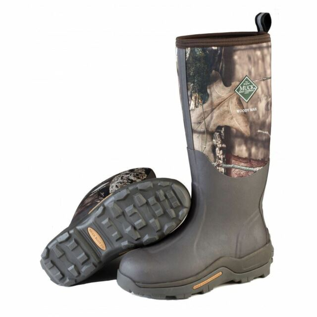 Muck WDM MOCT Woody Max Mens BarkMossy Oak Cold Conditions Hunting Boots