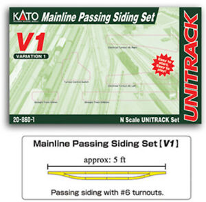 Kato-20-860-1-N-Scale-V1-UniTrack-Mainline-Passing-Siding-Set-208601