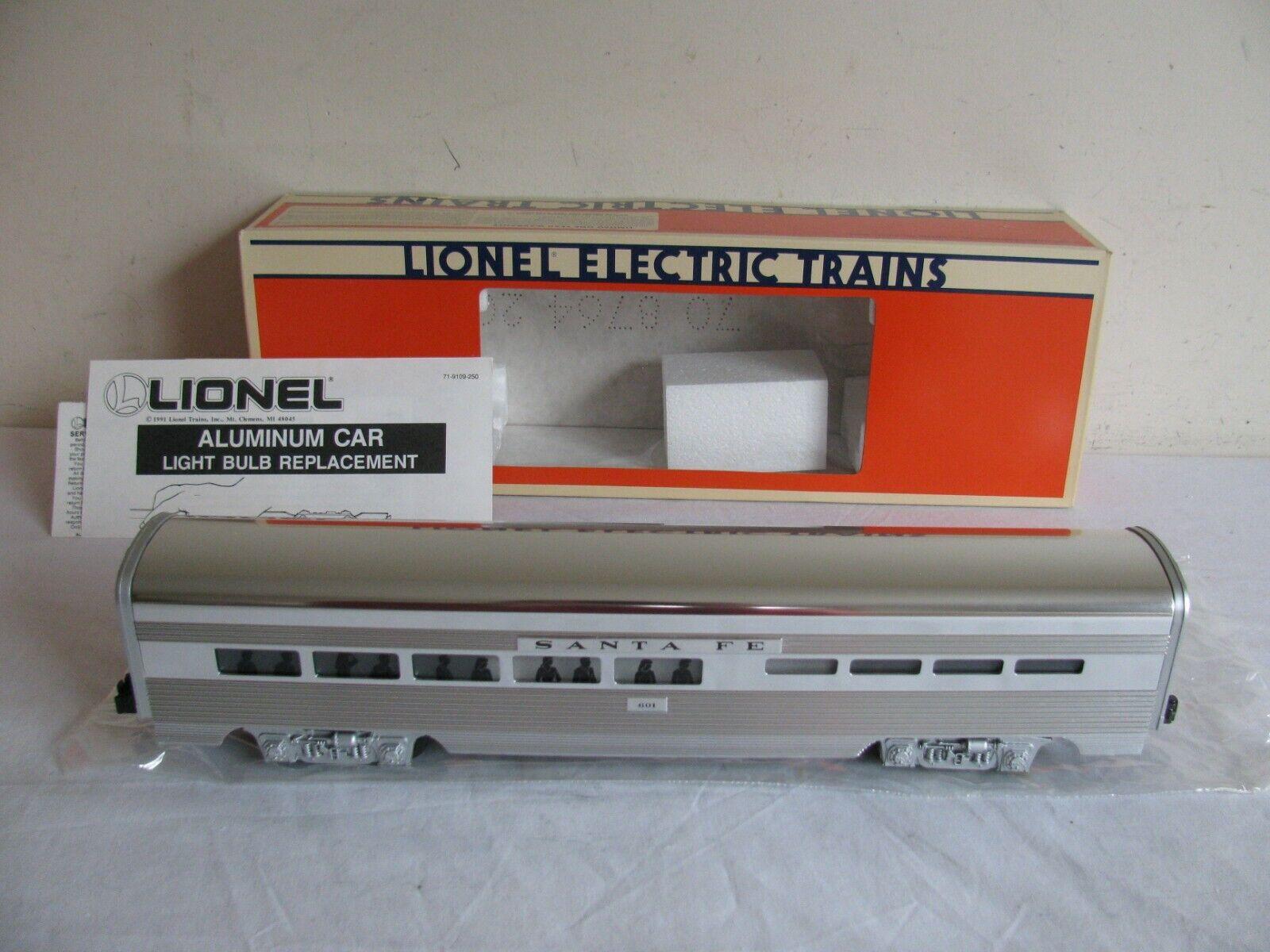 Lionel i treni Lighted Santa Fe Aluminum Diner 601 Passenger auto  619111 EX