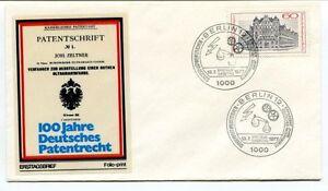 1977 Patentschrift Joh Zeltner 100 Jahre Deutsches Patentrecht Ersttagsbried