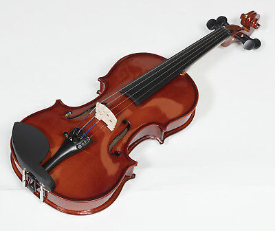 A Plastic Case Is Compartmentalized For Safe Storage Student Violin Available In 1/4 1/2 3/4 4/4 Sincere New Heartland Solid Maple Violin