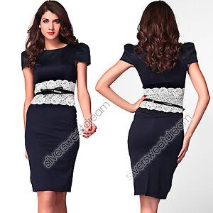 Caricamento dell immagine in corso Vestito-vestitino-merletto-cintura-abito- donna-sera-elegante- b2c2d2c38bf
